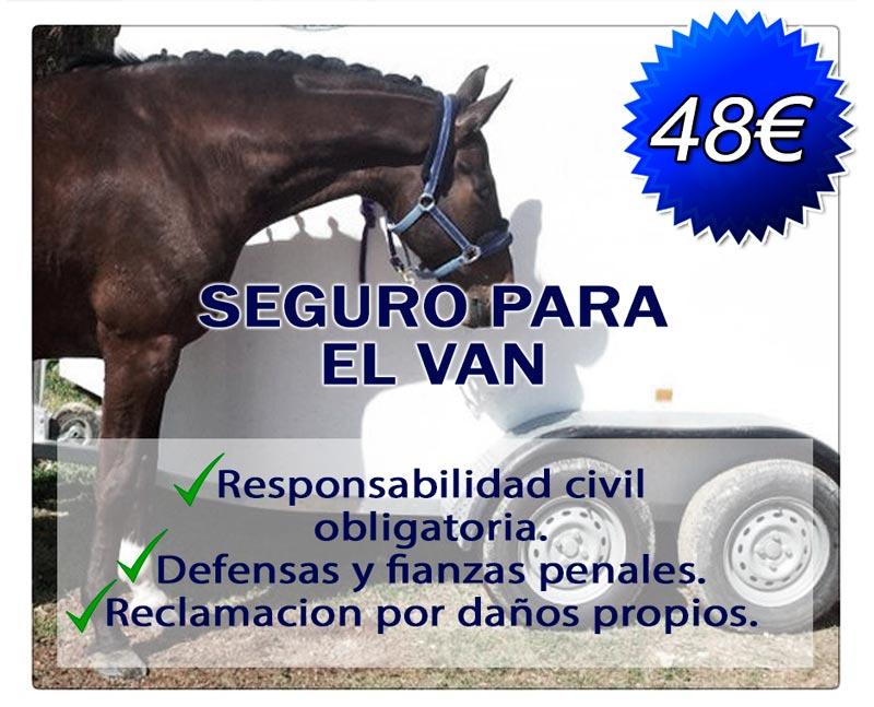 el mejor precio de Seguro para VAN y trasporte de caballos